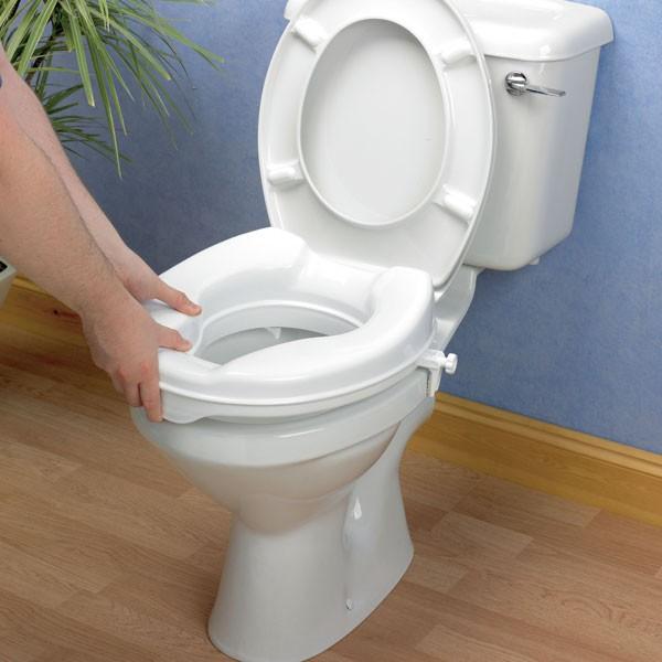 Savanah toilet seat raiser wheelchairs stuff - Rehausseur toilette adulte ...