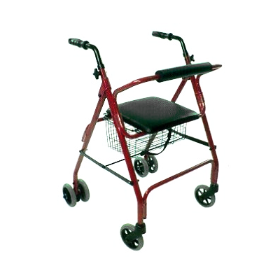 Auscare Push Down Brake Seat Walker 5 Quot Wheels